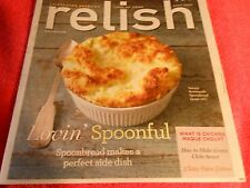 RELISH MAGAZINE SEPTEMBER 2013 SPOONBREAD PASTA DISHES AMERICA'S LOVE OF FOOD