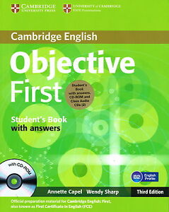 Cambridge OBJECTIVE FIRST Student's Book w Answers,CD-ROM