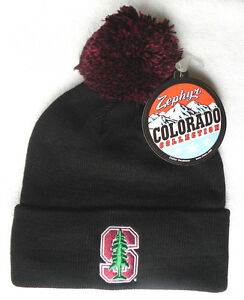 e8f92bc0283 Image is loading STANFORD-CARDINAL-BLACK-NCAA-VINTAGE-KNIT-RETRO-BEANIE-