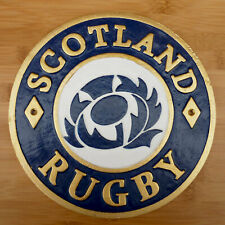 Scotland Rugby Sign Cast Iron Scottish Rugby Union Plaque 6 Nations Murrayfield