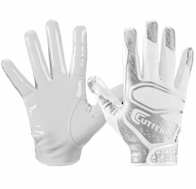 Cutters Rev 2 0 S251 Youth Football Receiver Gloves Pair White