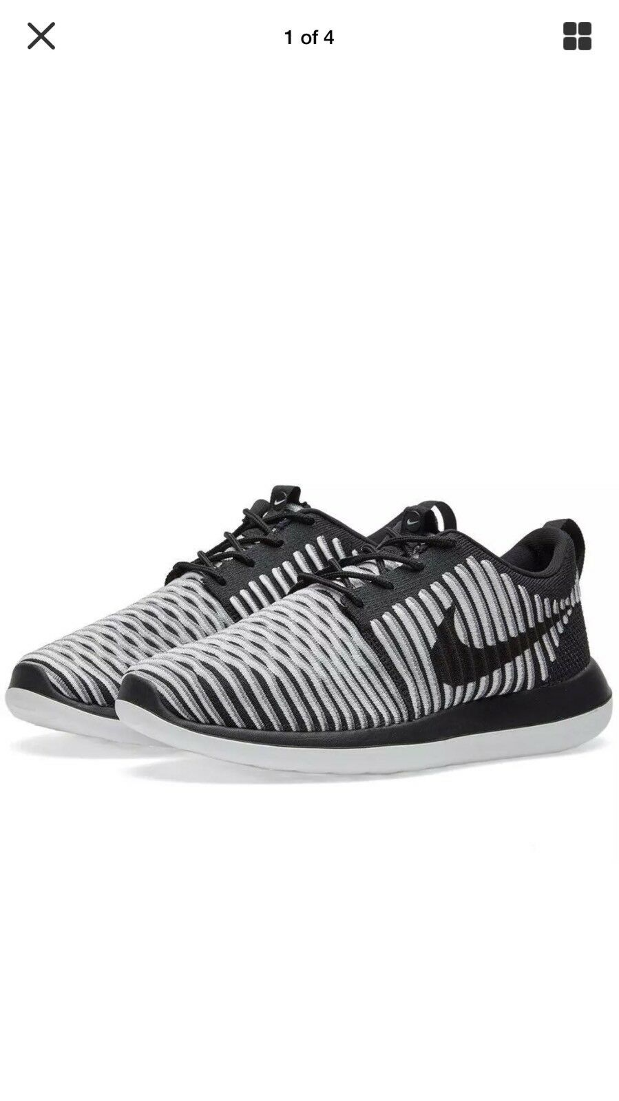 NIKE ROSHE TWO FLYKNIT Schuhes Trainers Sneakers SIZE 7UK Eur41 -
