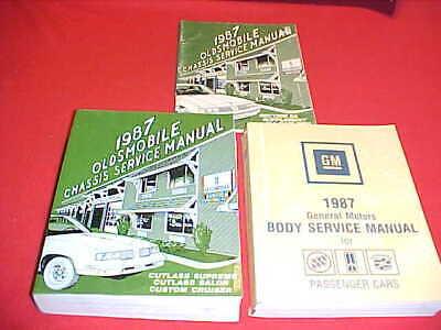 1987 oldsmobile cutlass supreme 442 service shop repair manual 87 ... oldsmobile owners manuals repair wiring diagrams  ebay