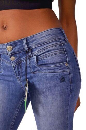 GLÜCKSSTERN Jeans MERLE Slim Regular Waist HOLZBLAU Mittelblau Größe 25//26//30//32
