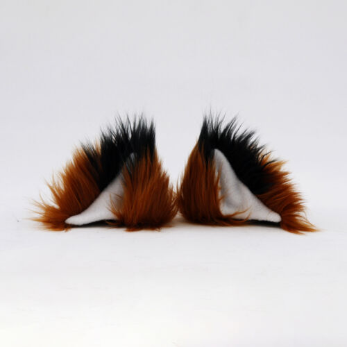PAWSTAR Clip On In Fox Yip Ears Furry Cosplay Costume Brown Tan Wolf Kitty 3226