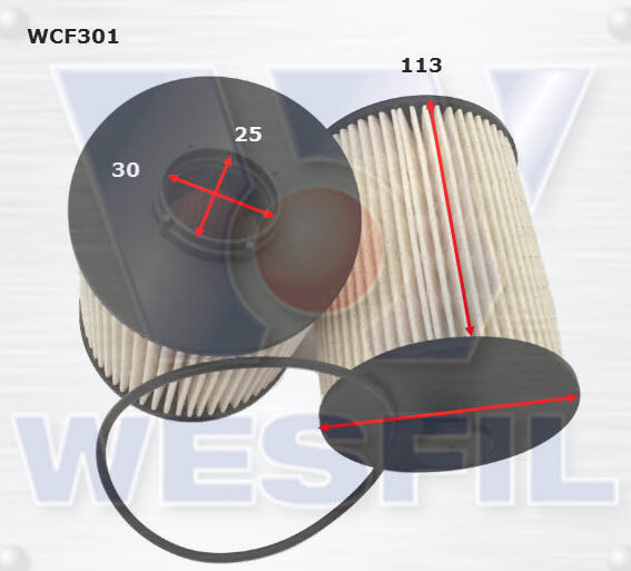 WESFIL FUEL FILTER FOR FOTON TUNLAND P201 11.12-on 2.8L DIESEL TURBO CUM ISF