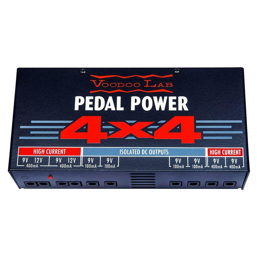 NEW  Voodoo Lab PEDAL POWER 4x4 - Audiophile Quality 9 Volt Isolated Supply