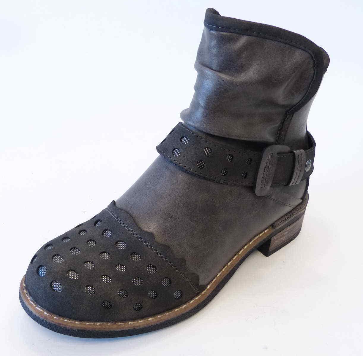 Rieker Stiefel Stiefel 94660 45 anthrazit grau Reißverschluß warm Trentino