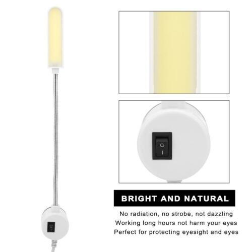 LED Magnet Leseleuchte mit Schwanenhals Arbeitsleuchte Nähmaschine Licht 6W