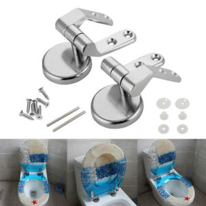 2pc-Alloy-Replacement-Toilet-Seat-Hinges-Mountings-Set-Chrome-w-Fittings-Screws