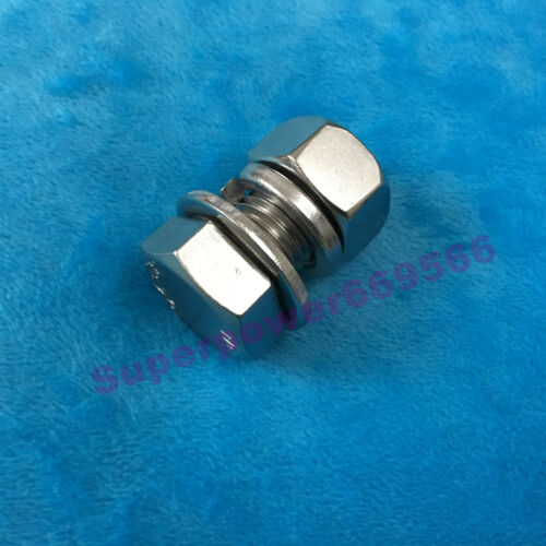M16 304 Stainless HEX head  cap hexagon screw bolt flat spring gasket nut kits