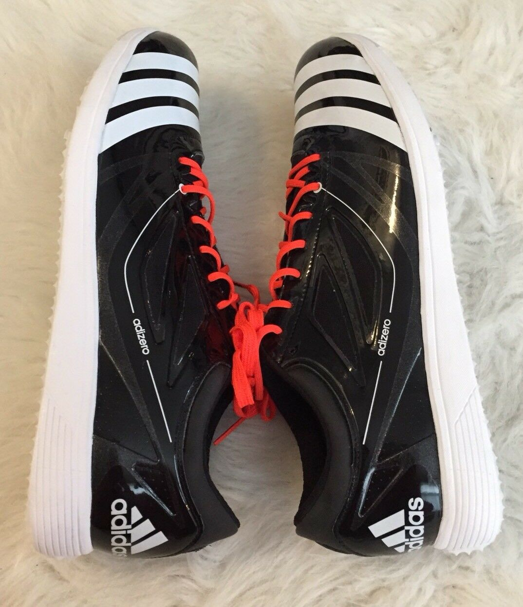 Adidas - schuhe moderator track läuft spike schuhe - schwarzer spitze männer ist größe 12 1 / 2 7cdf3b