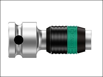 Wera 8784 B1 Zyklop Bit Adaptor 3//8in Square Drive To 1//4in Hex Bits
