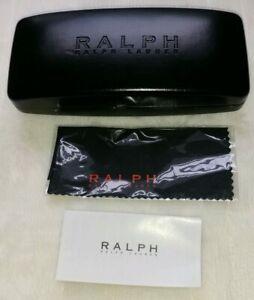 Polo-Ralph-Lauren-Black-Eyeglass-Sunglasses-Hard-Case-Protective-Cleaning-Cloth