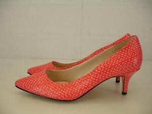 Coral Kitten Heel Shoes