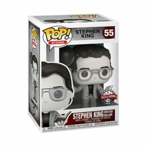 ... Icons Vinyl Stephen King with Red Balloon Black /& White US Exclusive Pop