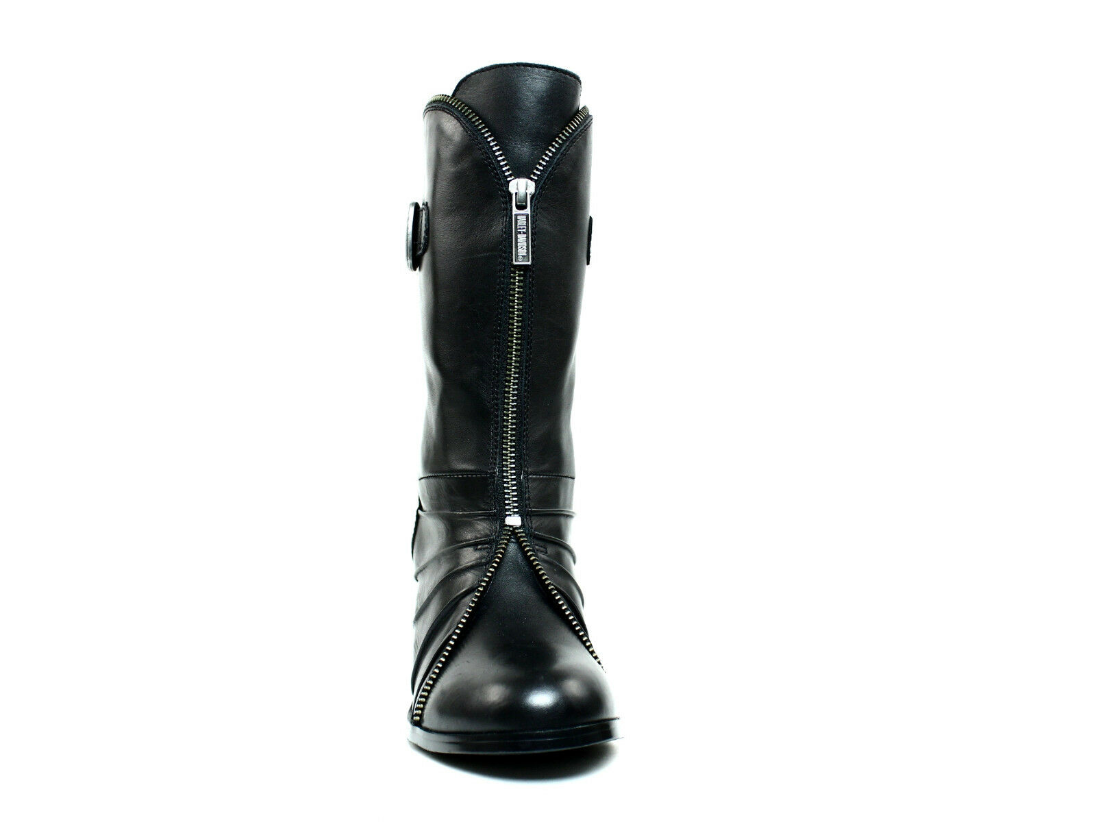 Harley Davidson Womens  Motorcycle Fashion Mid-Calf  Zipper    Black Leather  Boot 6a8891