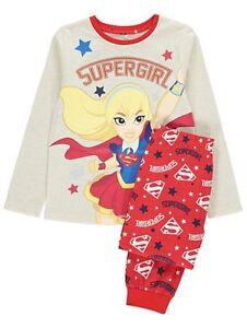 Girls Pyjamas PJs DC Super Hero Girls Wonder Woman Super Girl 4-5 to ... c78c24a46