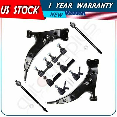 2PCS Front Lower Control Arms Suspension Kit Fits 93 94 95 Toyota Corolla 1.8L