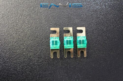 20 AMP MINI ANL FUSES GOLD PLATED INLINE AFC AFS BLADE AUTO HOLDER MANL20 3