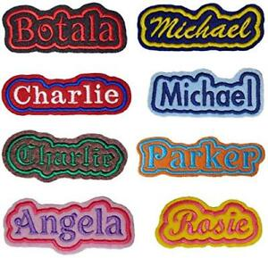 Custom-Embroidered-Felt-Patch-Personalized-Name-Iron-On-Sew-with-Outline-Border