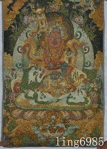 Details about Tibet Buddhism cloth Mahakala god Buddha Evil spirits Statue  thangkas tangka