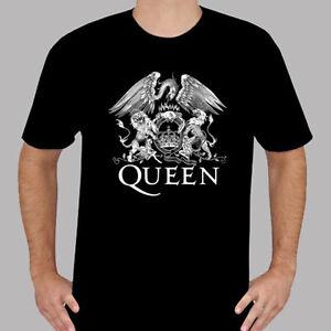 e7e0c6599540 QUEEN Rock Band Legend Symbol *Freddie Mercury Men's Black T-Shirt ...