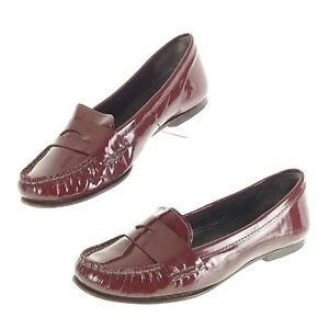 314e6cd6af4 Cole Haan Womens 9.5 Shoes Air Penny Loafers Maroon Patent Leather ...