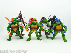 Set-6-x-teenage-mutant-ninja-turtles-action-figures-with-weapons-4-inch-TMNT-lot
