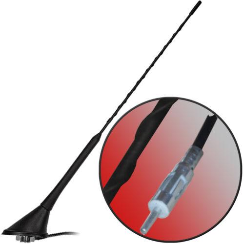 10004a 16v Design brancher 40cm autoradio antenne avec 4,5m Câble connecteur DIN