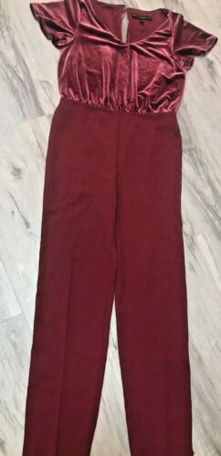 WHITE HOUSE BLACK MARKET maroon/red pantsuit with