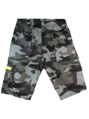 Shorts Multipocket ¾ Length Combat Camouflage Checked Boys Kids Age 3-14 Years