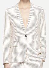 NWT $595 RAG & BONE Belmar Black White Stripe Silk Blazer Jacket - Size 0 (XS)