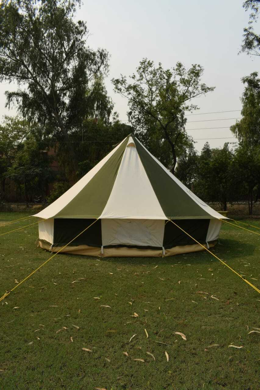 100% cotton Canvas Bell Tent 5m Olive Green ZIG Zipped in Ground SHEET 5 meter