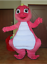 Cute-Green-Barney-Mascot-Costume-Cosplay-Dress-Outfit-Hallowen-Birthday-Gifts thumbnail 2