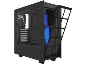 NZXT S340 Matte Black/Blue Steel ATX Mid Tower Case
