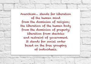 Sons Of Anarchy Anarchism Quote Emma Goldman Unframed