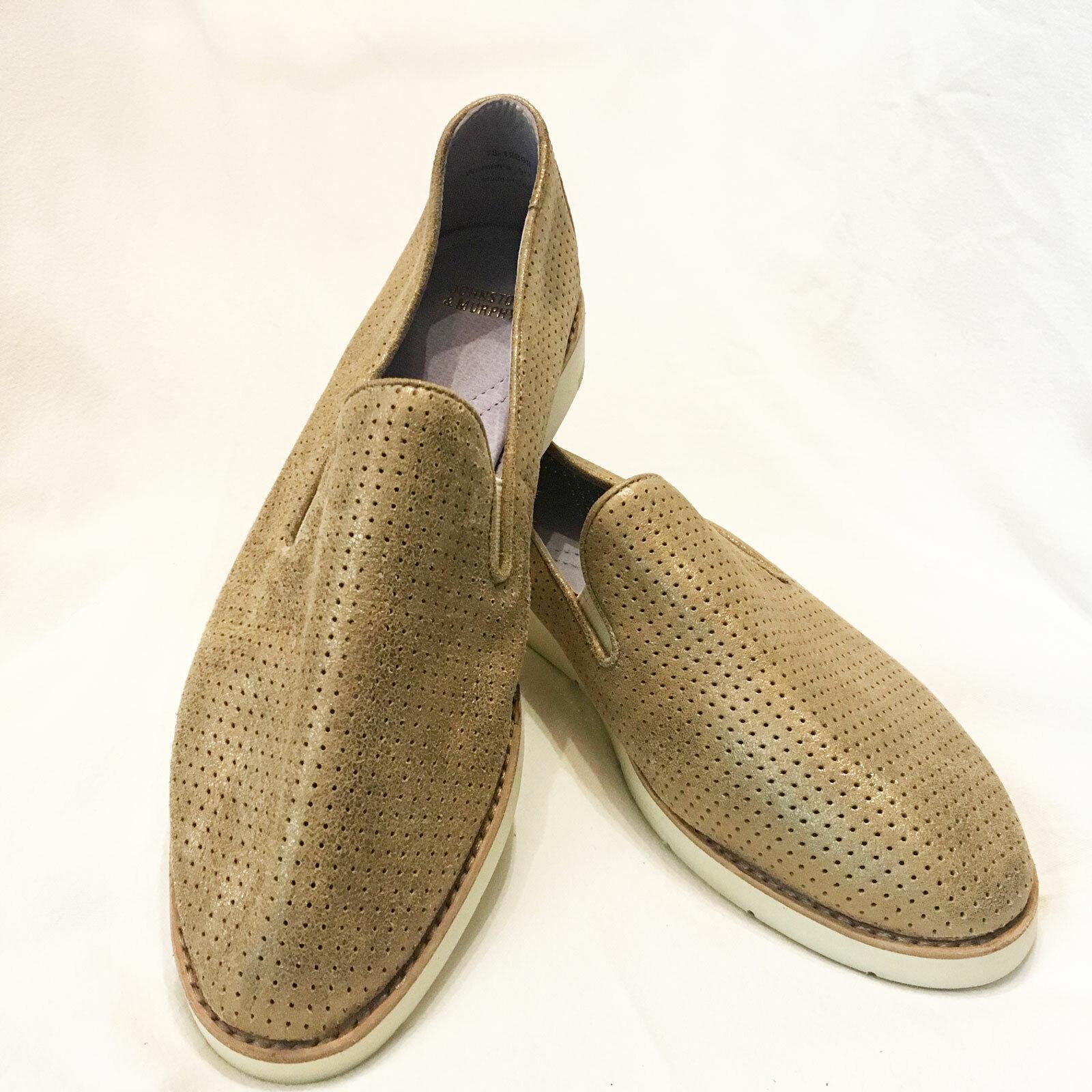 Johnston & Murphy   'Paulette' gold Slip on Sneaker – Size 9