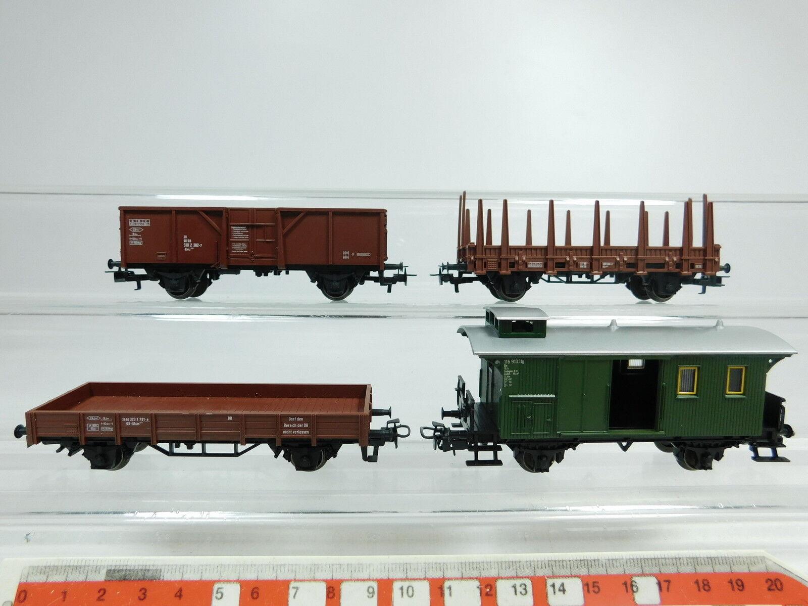 Bb323-0,5 x Märklin H0 AC Freight Car Freight ESCORT WAGON (AUS 29175) DB,MINT