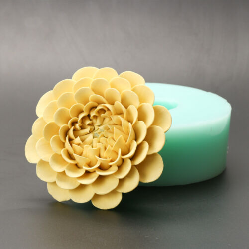 HC0034 Silica gel 3D Flowers Silicone Soap Mold Chrysanthemum Shape Inside Car