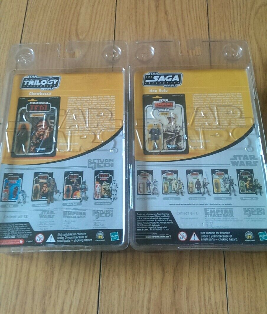 Han Han Han Solo Hoth Outfit 2007 STAR WARS The Saga Collection And otc Chewbacca... 7ea87a
