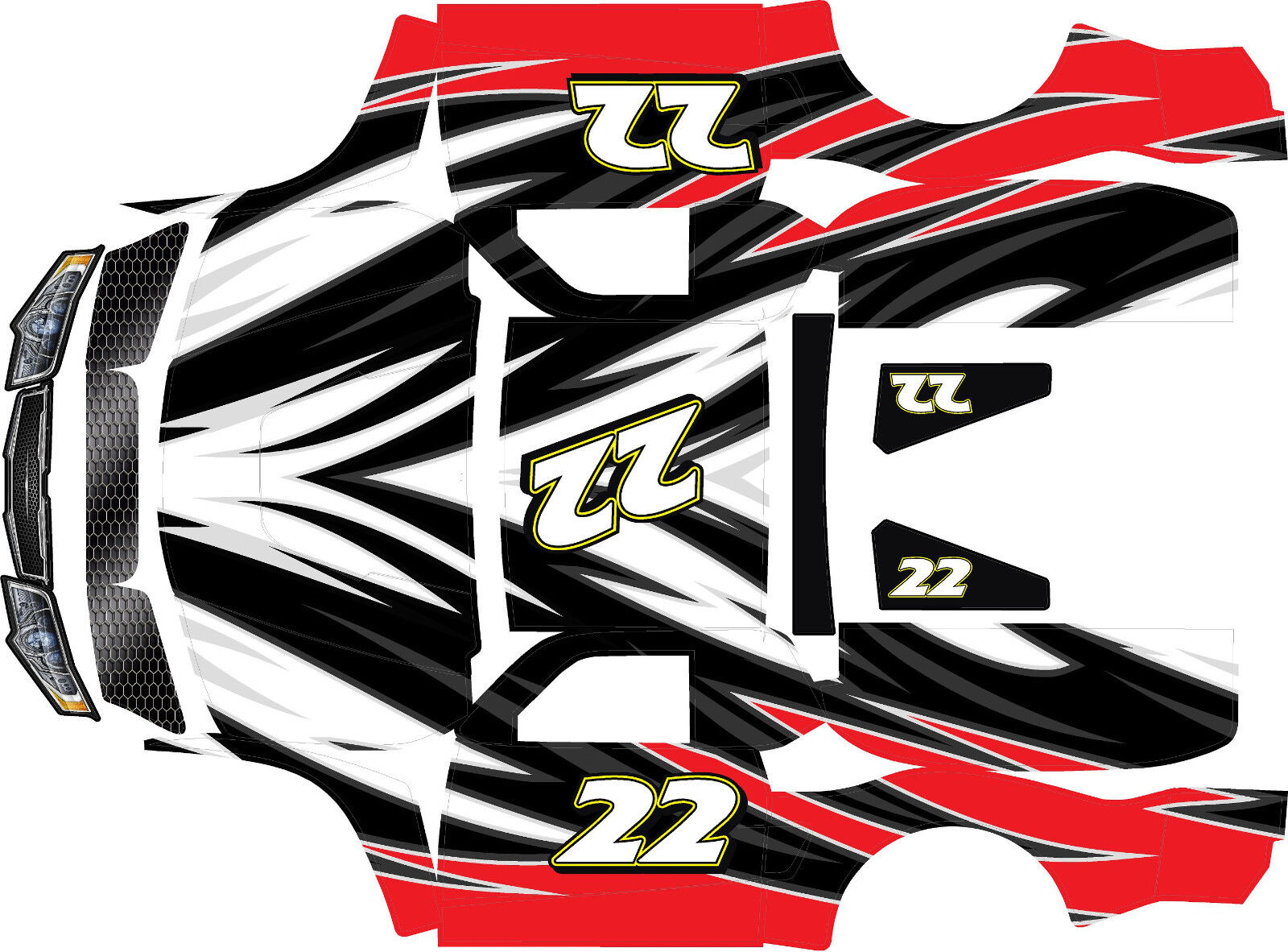 Losi 55wrap dekaler design 2 stor FLEX ROVAN TEAM HOONAGE