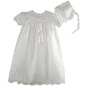 Precious-Sweet-Petit-Ami-Lined-Cotton-Eyelet-Christening-Scalloped-Yoke-Hat-Set