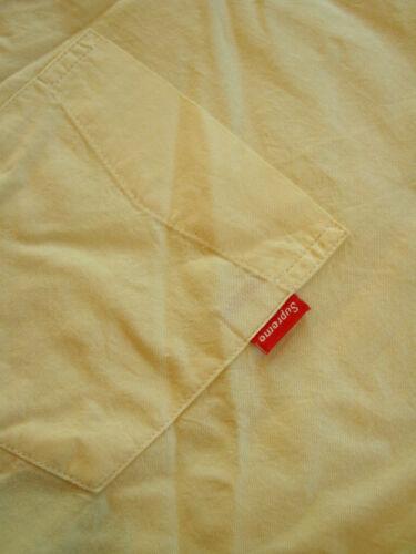 Supreme Button-Up Short Sleeve S//S Yellow Oxford Shirt XL X-Large Box Logo NWOT