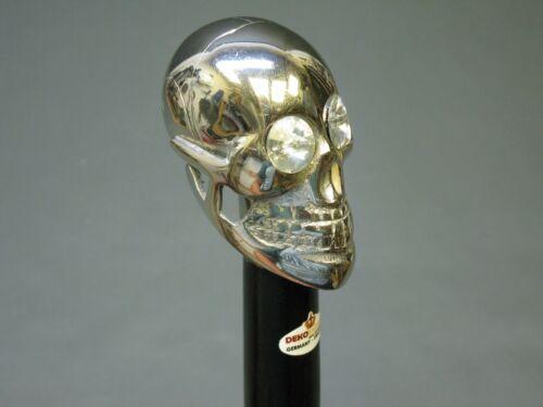 Gehstock Spazierstock Mystic LARP Totenkopf Schädel 94 cm Edelholz Metall Skull