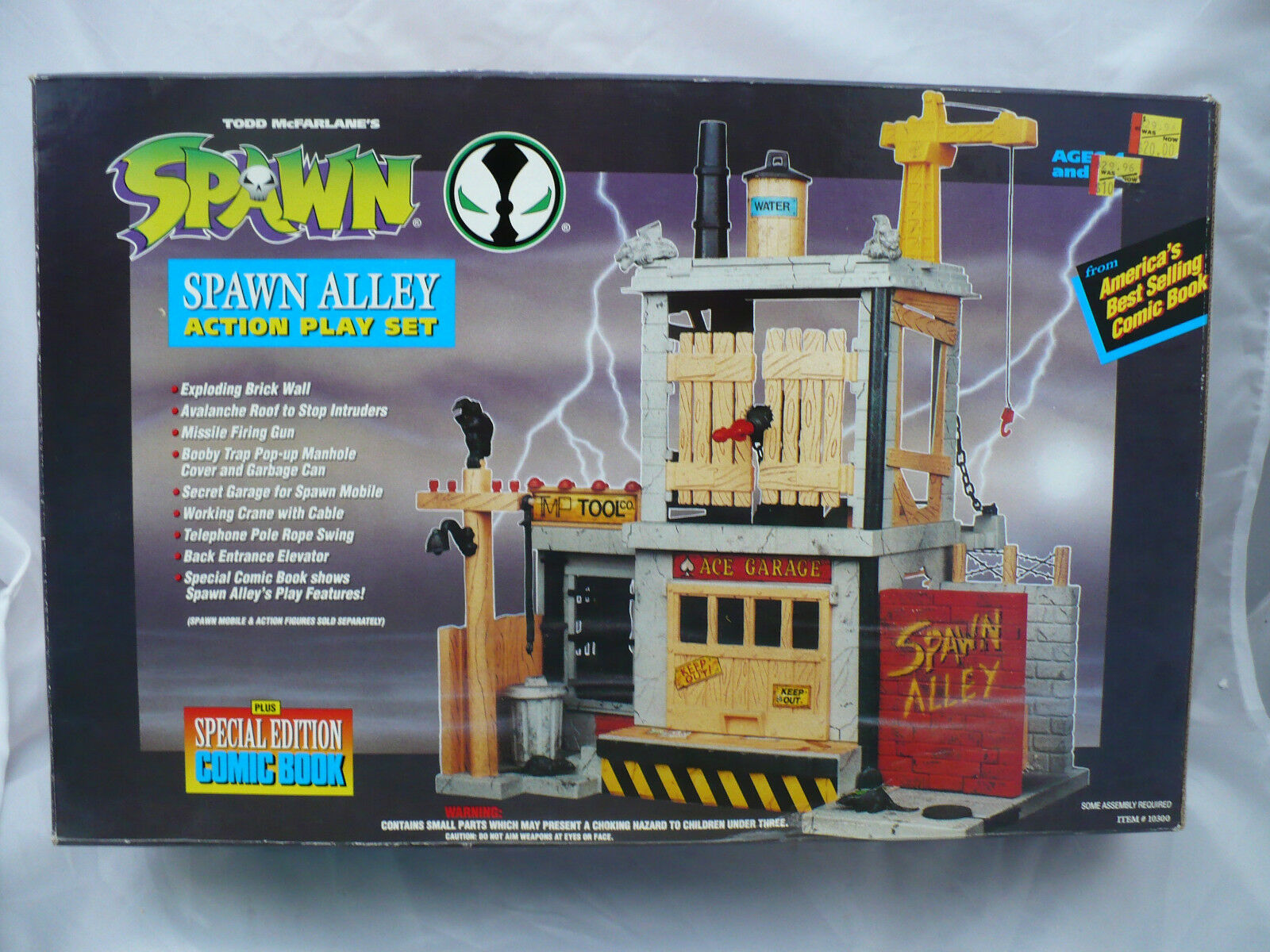 SPAWN ALLEY ACTION PLAY SET SEALED COMPLETE W SPECIAL EDITION COMIC BOOK 1994