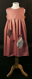Girl-DUSKY-PINK-Victorian-Edwardian-Annie-Orphan-Workhouse-Fancy-Dress-Costume