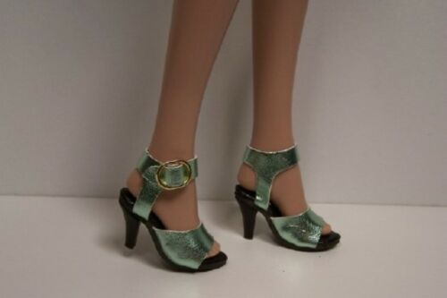 """MINT GREEN Metallic Dazzling High Heel Doll Shoes For 16/"""" Tyler Wentworth DEBs"""