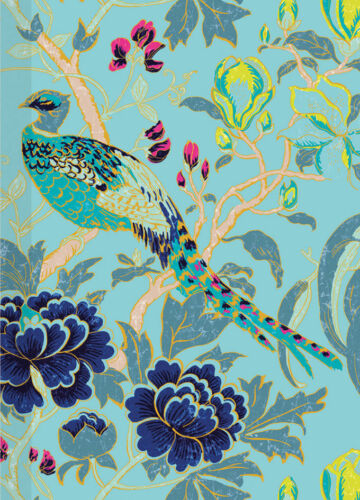 1 Sheet of Luxury Magnolia Peacock Gift Wrap Wrapping Paper Museums /& Galleries