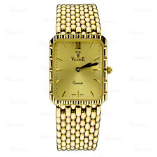 VICENCE Panther 14k Yellow Gold 5-Row Link Bracelet Swiss Quartz Watch